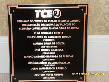 Placa de Inauguração de Bronze