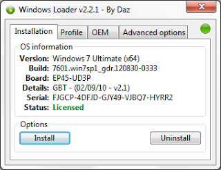 Windows Loader 2.2.1 by DAZ