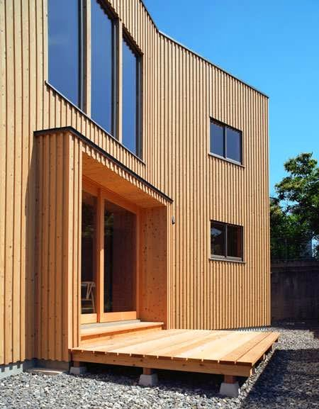 Simple yet modern wood exterior and interior house design for Simple modern wood house