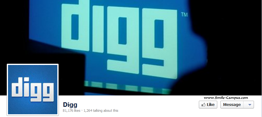Digg.com Facebook Timeline Page