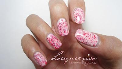 Lacqueerisa: Strawberry Ice-Cream Nails