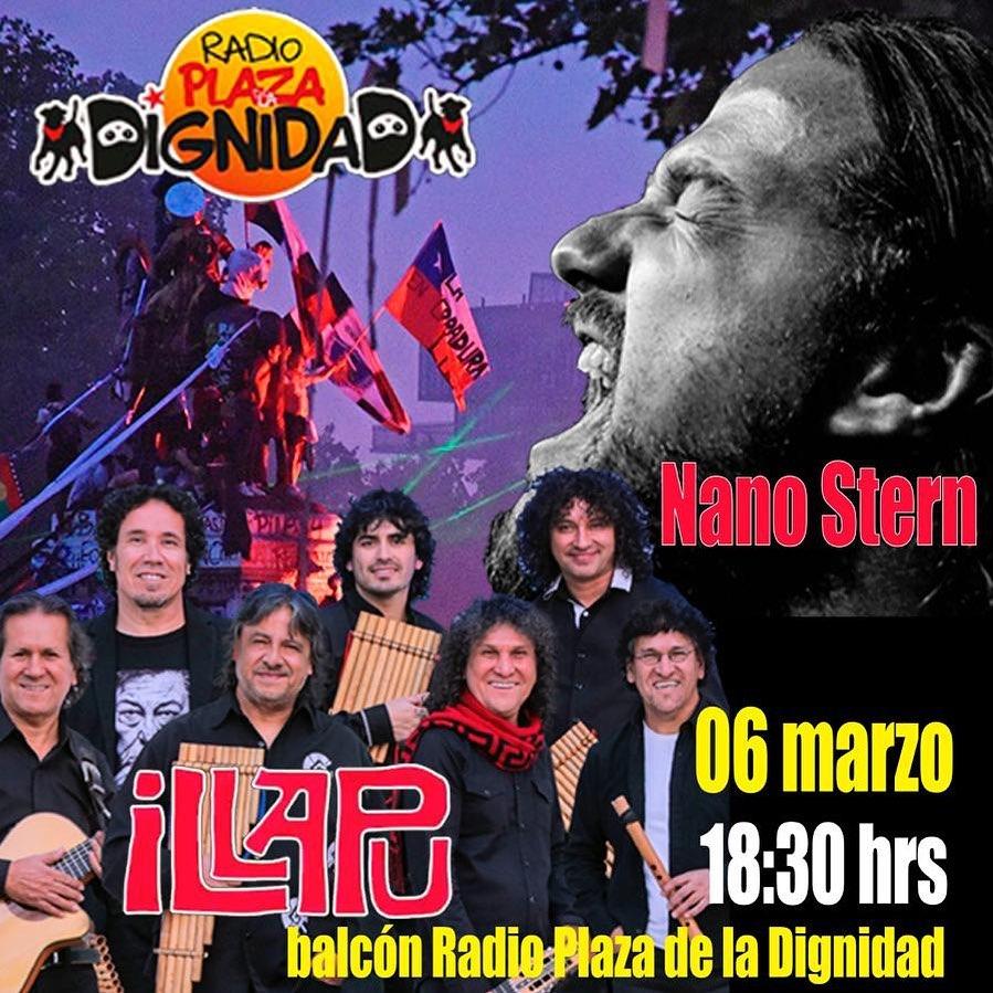 NANO STERN - ILLAPU. 6 MARZO BALCÓN RADIO PLAZA DE LA DIGNIDAD