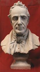 Un busto del Poeta..