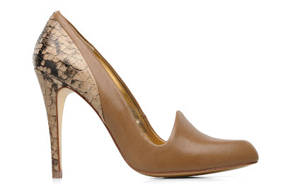 High heel ted baker snake effect shoes