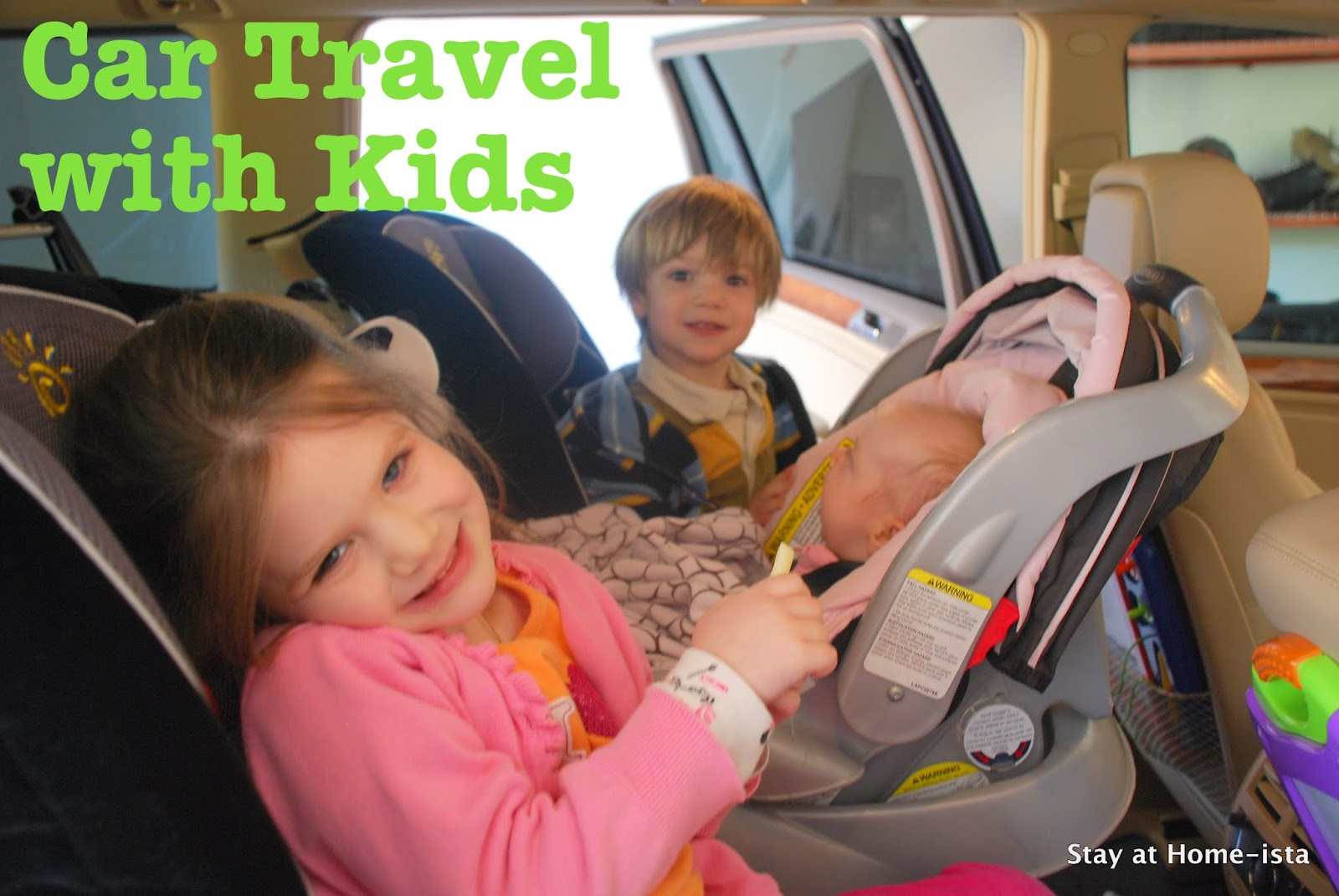 post about car travel with children this is a million times better because she has more space and the older two arent always playing with the sun