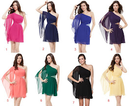 7-Color One Flowing Drape Shoulder Size Triangle Sequin Dress