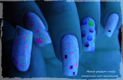 Nail Art Bulles d' aquarelle5