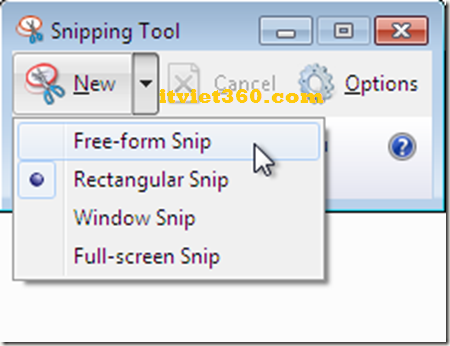Snipping Tool on Win 7