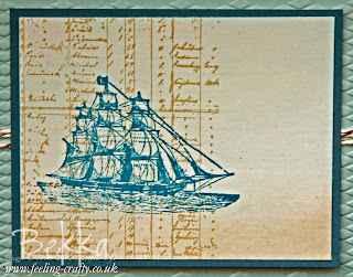 Detail of The Open Sea Masculine Card by Stampin' Up! Demonstrator Bekka Prideaux - made to share with her team - join them here