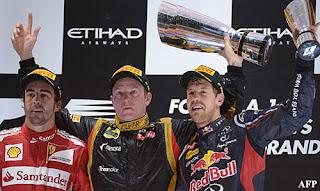 FÓRMULA 1-Carrerón de los tres hombres del podio