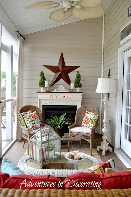 From my front porch to yours 12 29 13 1 5 14 for Long porch decorating ideas