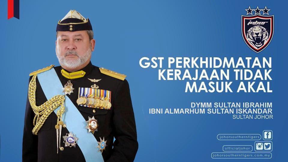 Sultan Johor Isu GST