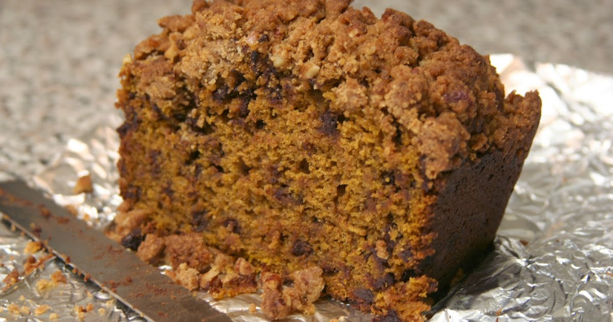 Culturally Confused: Chocolate Chip Pumpkin Bread with Pecan Streusel