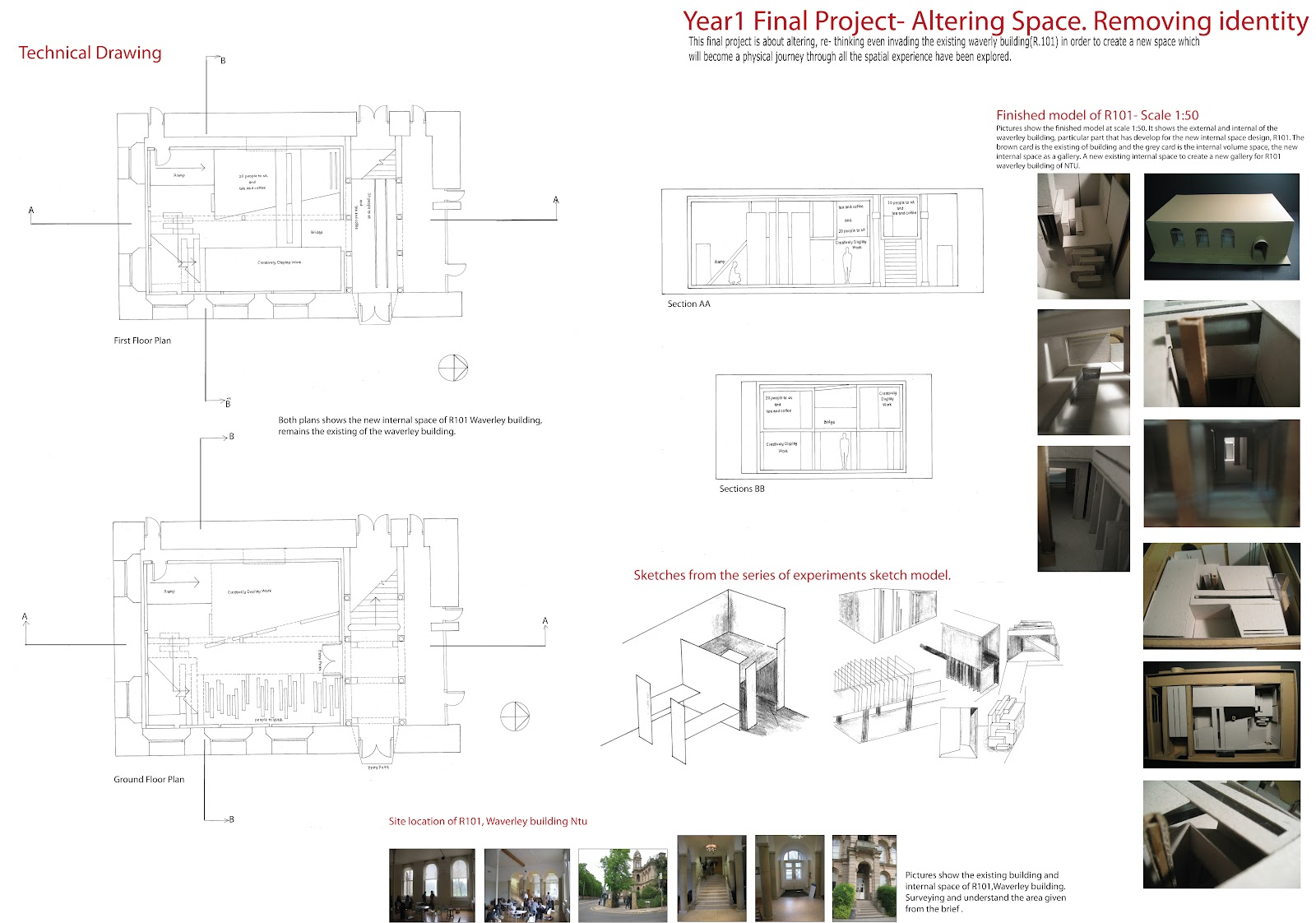 Interior architecture design year 1 final project for Find architects online