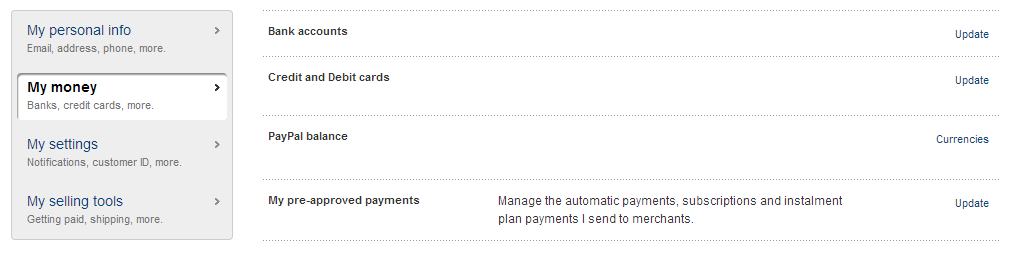how to change paypal payment account on ebay