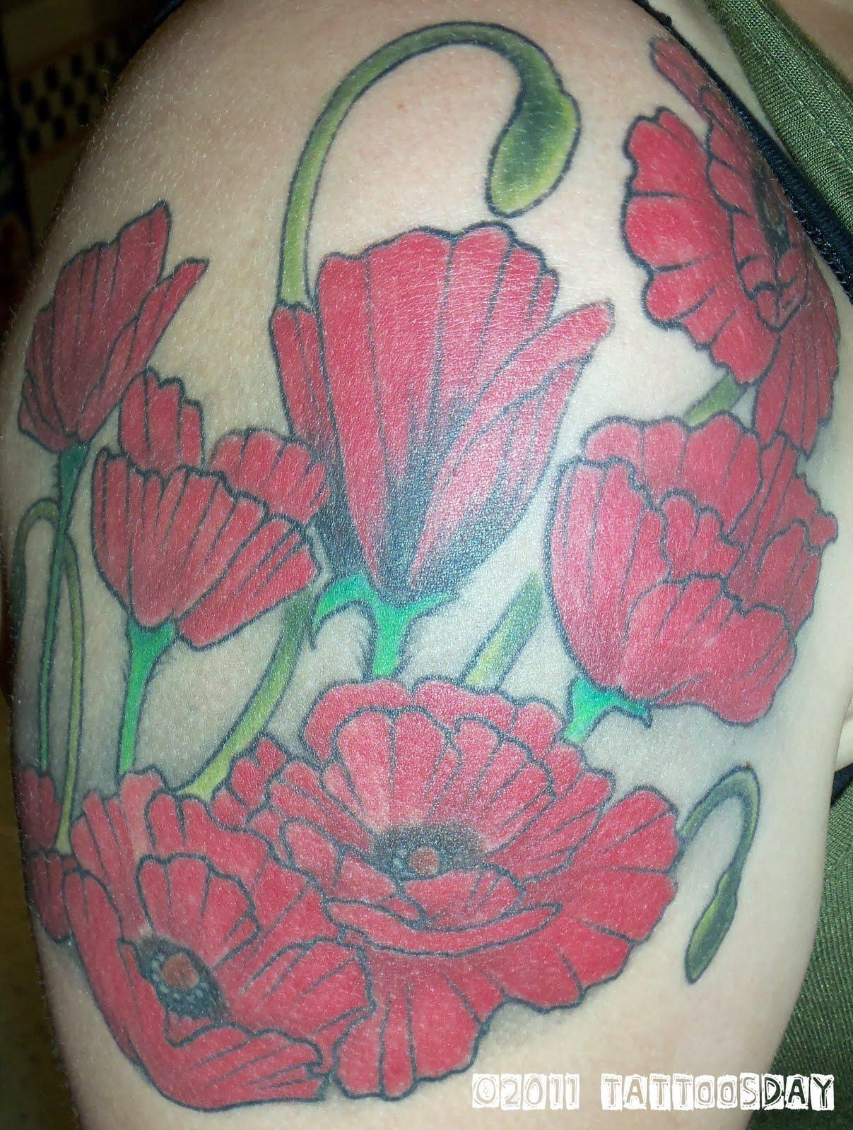 Tattoosday A Tattoo Blog Poppies For Poppy