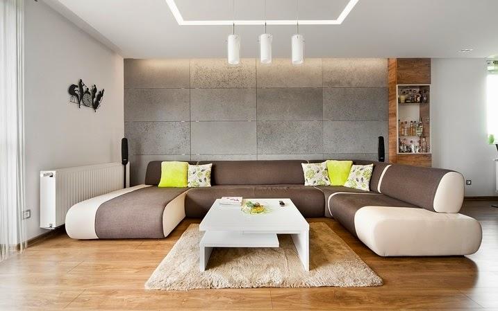 Dise o interior apartamento d plex en sosnowiec for Mesillas de diseno moderno