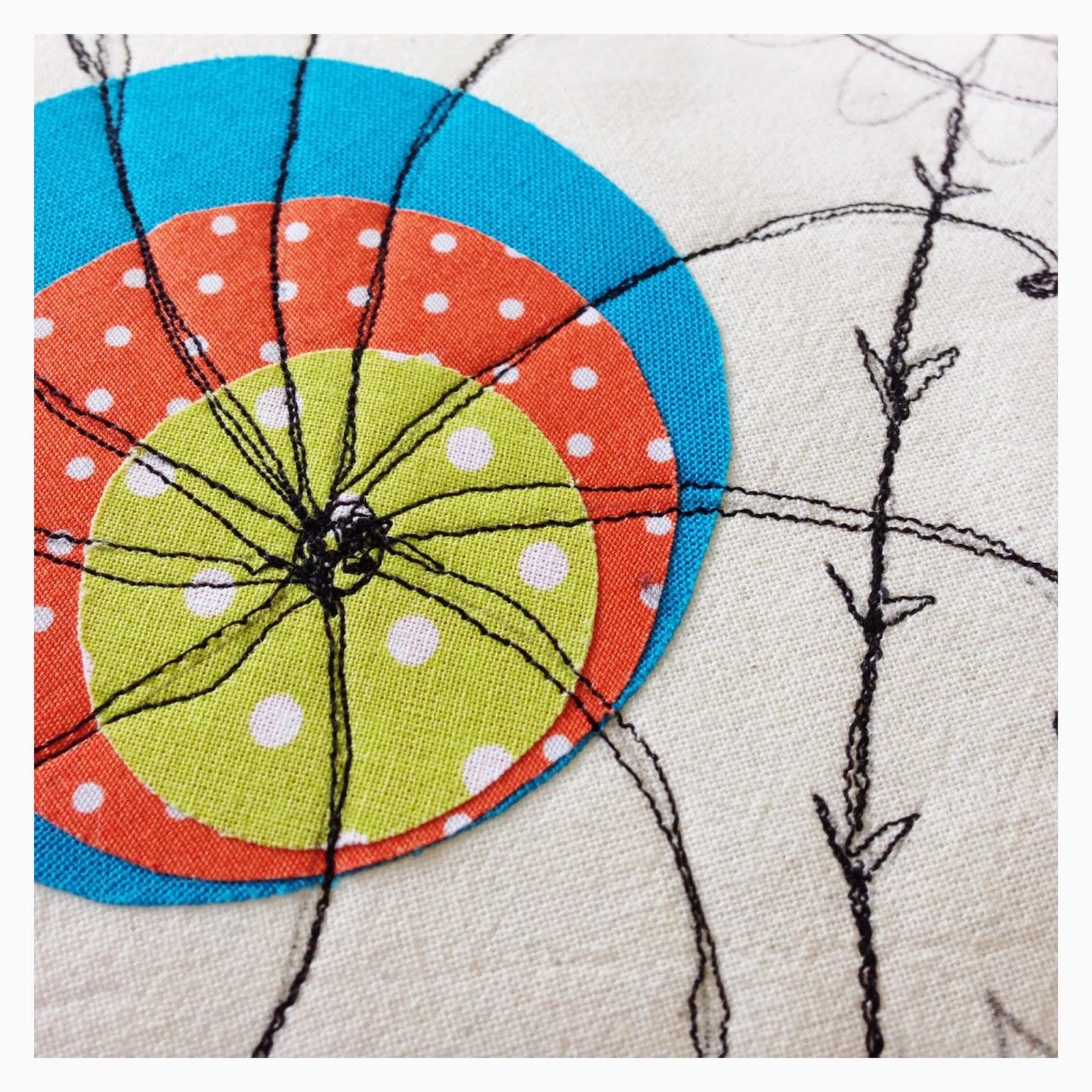 mit Strich und Faden | Freihandnähen - Doodle mit der Nähmaschine