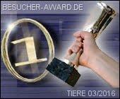 Besucher-Award Kategorie Tiere (März 2016)