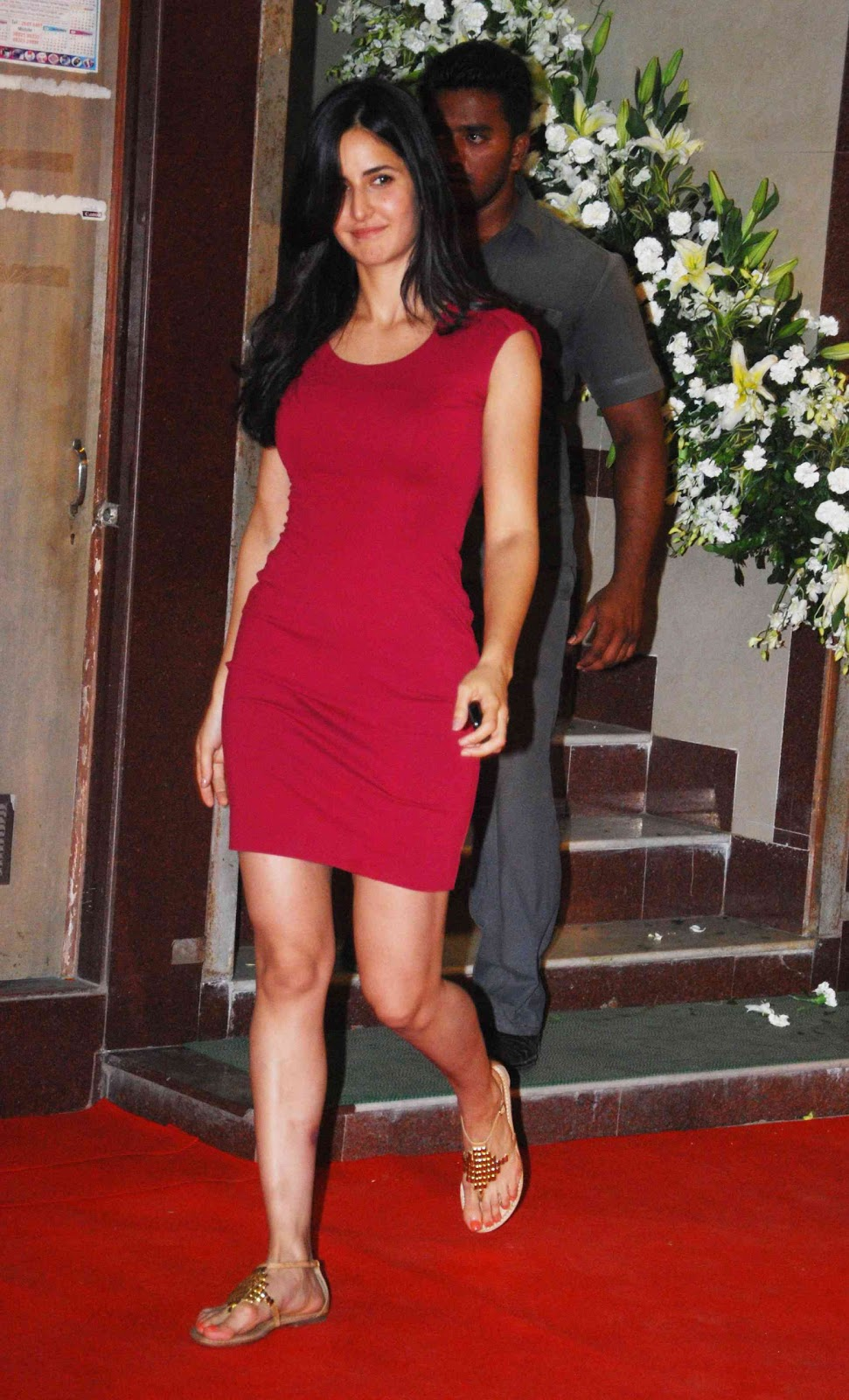 Katrina Kaif Stunning In Pink Skirt At The Kallista Spa Opening