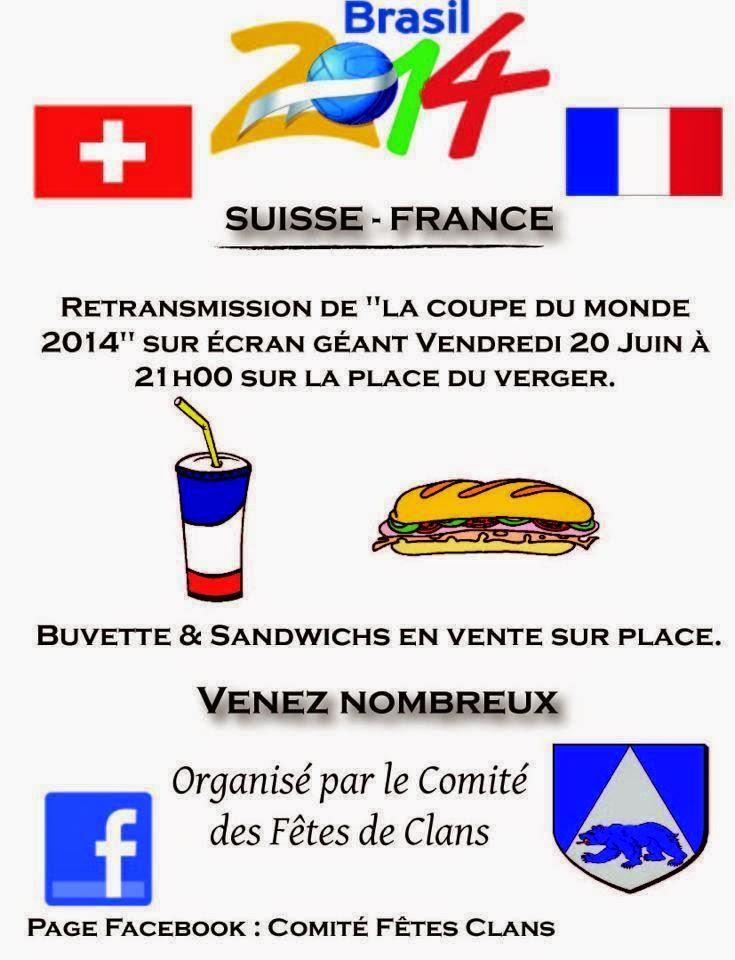 Le petit clansois retransmission de la coupe du monde sur grand cran - Retransmission coupe de france ...