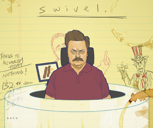Ron Swanson from Parks and Recreation by Phil Noto