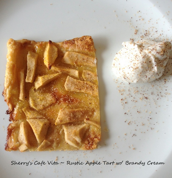 Cafe Vita: Rustic Apple Tart with Brandy Whipped Cream