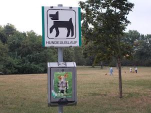 """Auer-Welsbach Park  near Schoenbrunn Palace is a """"Dog Walkers park""""."""