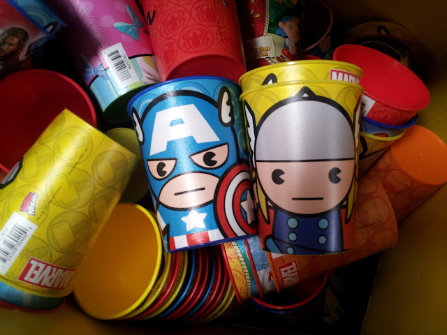 Captain American and Thor Marvel cups