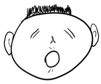 disegno di una faccia isolata dal corpo