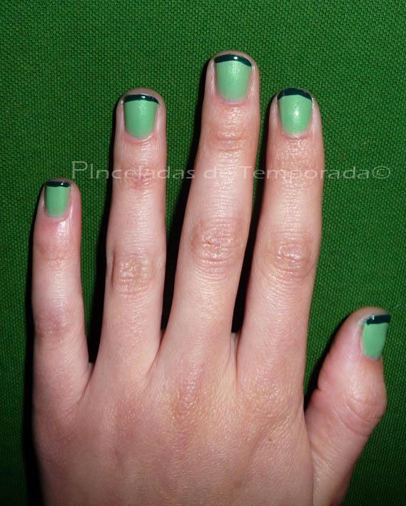 Pinceladas de temporada manicura francesa verde dior y - Manicura francesa colores ...