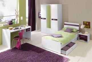 Dormitorios en verde blanco y morado dormitorios colores for Jugendzimmer wenig platz