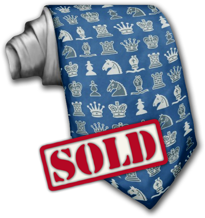 Sold, Chess Pieces in Rows Tie