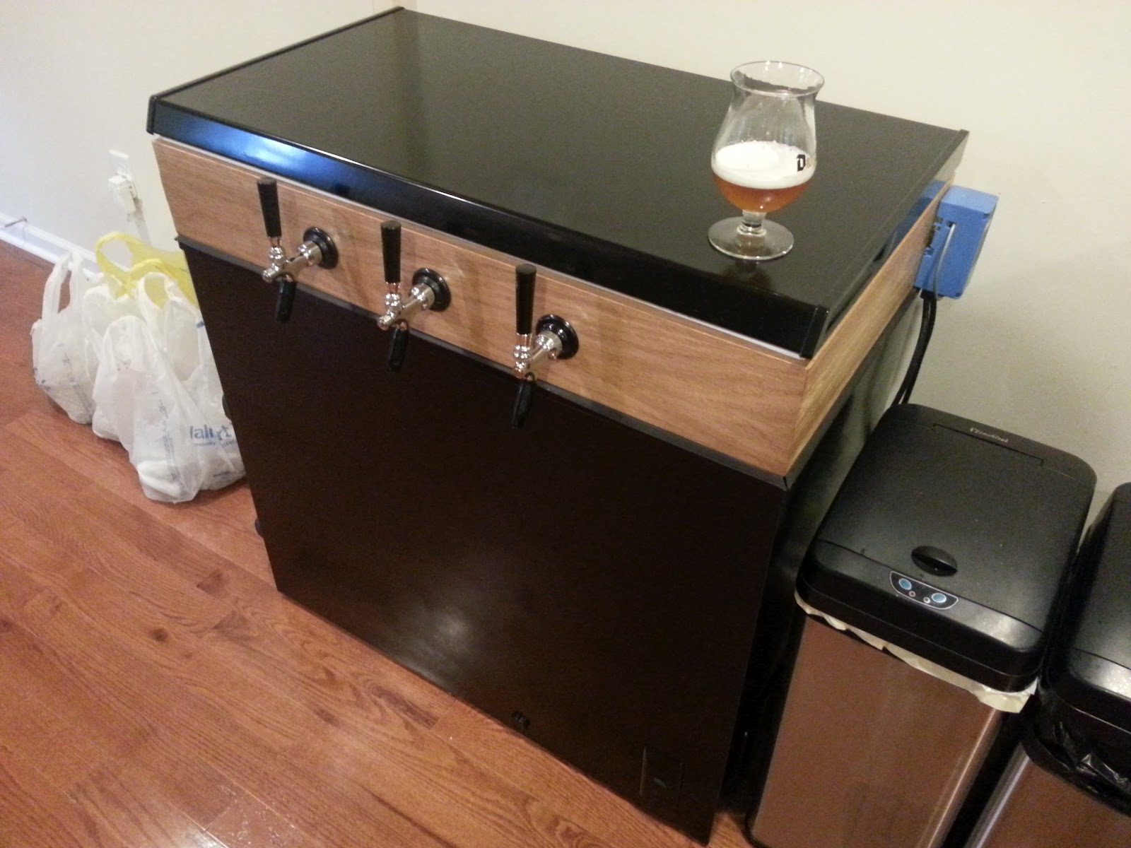 Keezer Project The Chronicles Of An Amateur Zymologist #8C593F