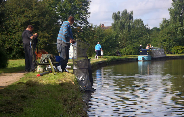 Lads fishing the Coventry Canal