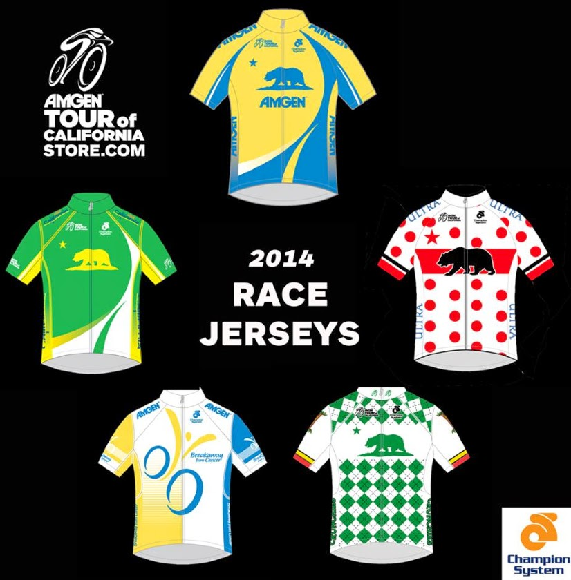 Tour of Californa race leader jerseys