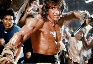 Stallone stick fight Rambo 3