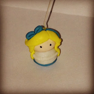 Alice in Wonderland Polymer Clay Charm handmade by Lottie Of London