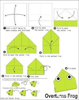 origami rana niños