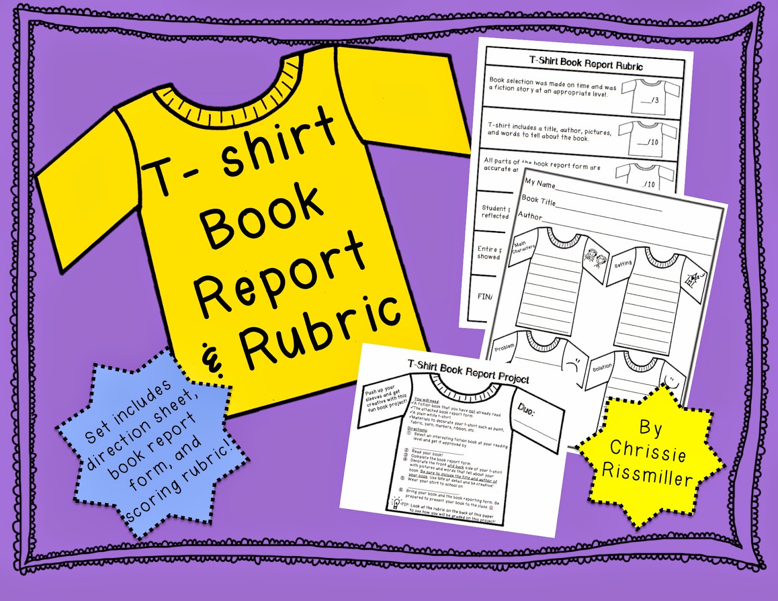 t-shirt book report Be ready to wear your next book report project this book report will be represented on a t-shirt that you will get to wear to school fun, fun.