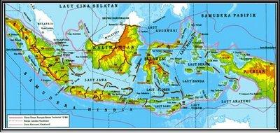 Gambar Peta Letak Geografis Indonesia
