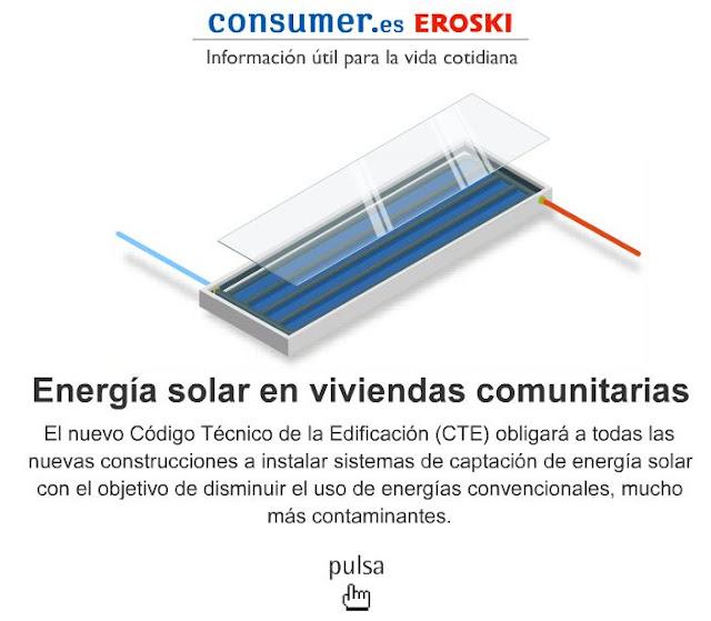 COLECTOR SOLAR PLANO - EROSKI