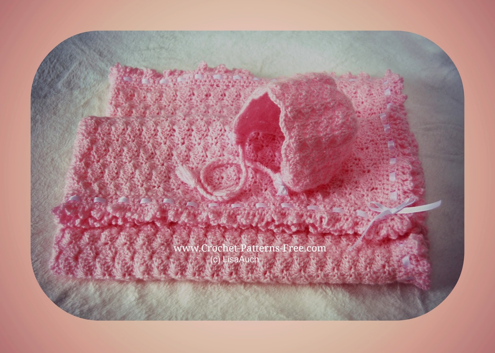 Free Crochet Baby Blanket Pattern in Shell Stitch