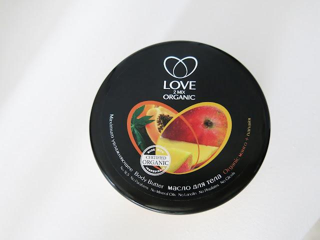 Love 2Mix Organic - masło do ciała Mango i Papaja.