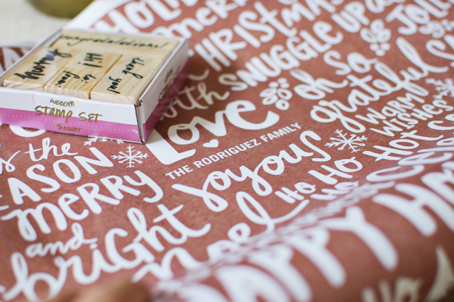 Cute Personalized Christmas Gift Wrap