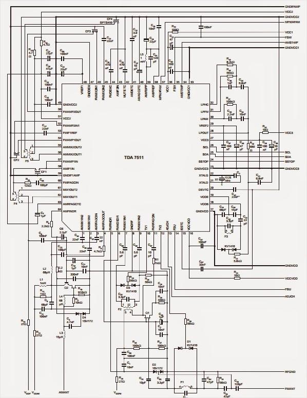 amplifiercircuits com  tda7511