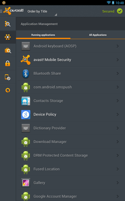 app manager avast