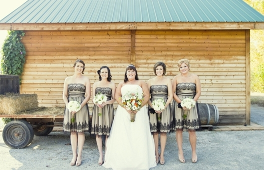 country wedding bridesmaid