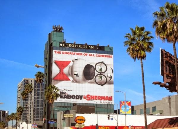 Mr Peabody Sherman billboard Metropolitan Hollywood
