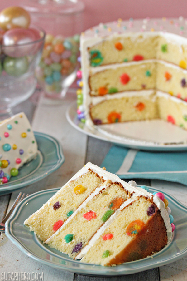 http://www.sugarhero.com/easter-polka-dot-cake/